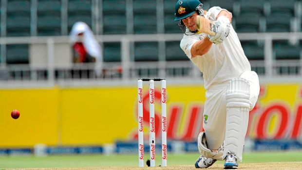 Reshuffle ... Shane Watson is set to move down the order, leaving Australia with a top three of Ed Cowan, David Warner ...
