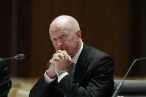 Glenn Stevens Reserve Bank Governor appeared before the House Economics Committee at Parliament House in Canberra on ...