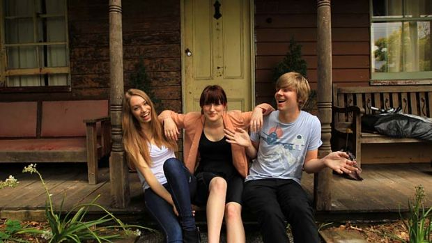 No laughing matter ... Camilla May, Maddy Stedman and Fred Greer are all concerned about the environment - but for Maddy ...