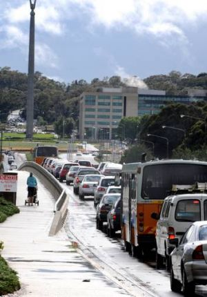 Love affair continues ... More than 80 per cent of Canberra's commuters drive to work each day.