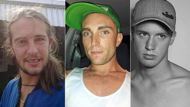 David Houston (left) was murdered by Samuel Walker (centre) and Jonathan Lee (right).
