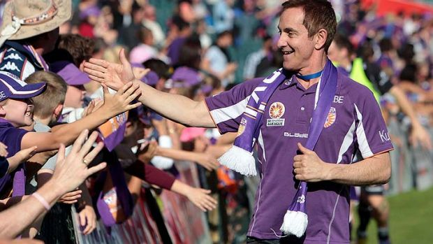Tony Sage in his guise as owner of the Perth Glory.