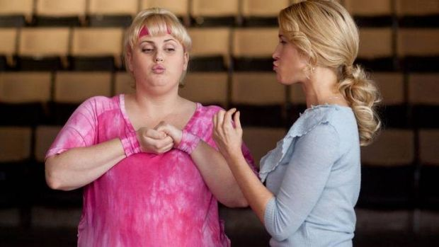 Rebel Wilson and Brittany Snow star in Pitch Perfect.