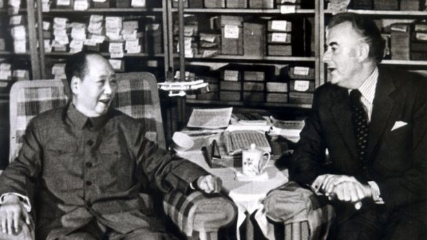 Prime Minister Gough Whitlam meets with Chinese leader Mao Zedong in Beijing in 1973.