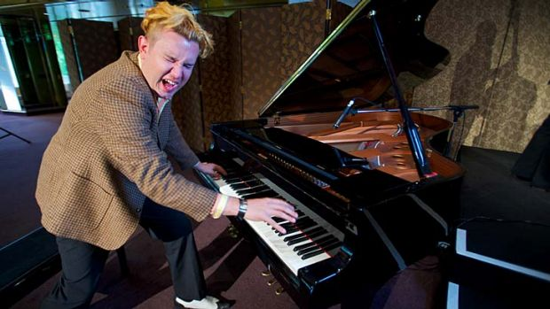 Ezra Lee, shakin' but not stirred, as Jerry Lee Lewis.