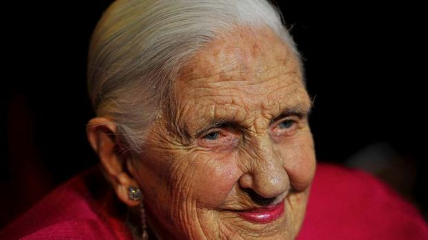 Dame Elisabeth Murdoch at her 103rd birthday celebrations.