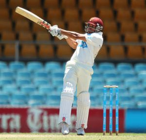 Usman Khawaja of Chairman's XI bats during day one of the international tour match between the Chairman's XI and Sri ...
