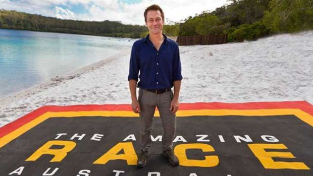 Not enough drama ... Grant Bowler hosts The Amazing Race Australia