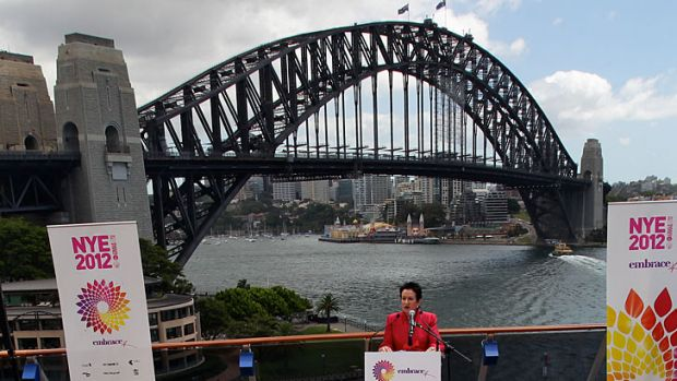 Lord Mayor Clover Moore during the launch of 2012 New Year's Eve at Circular Quay.