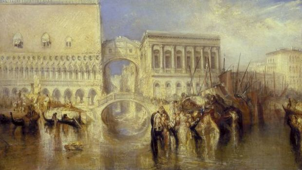 J.M.W. Turner, <i>Venice, the Bridge of Sighs, </i>exhibited 1840. Photo: (c) Tate, 2013