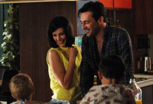 At home with the Drapers: Megan  (Jessica Pare) challenges Don  (Jon Hamm) to think about marriage in a new light.