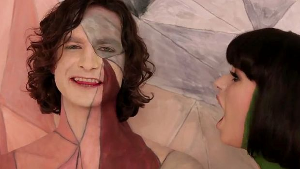 A scene from the video clip for Gotye's <i>Somebody That I Used To Know</i>.