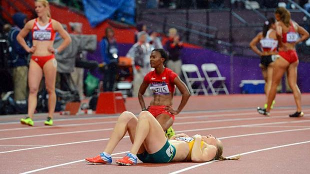 Top effort: Hurdles champion Sally Pearson is battling with back pain after winning gold at the Olympics in London.