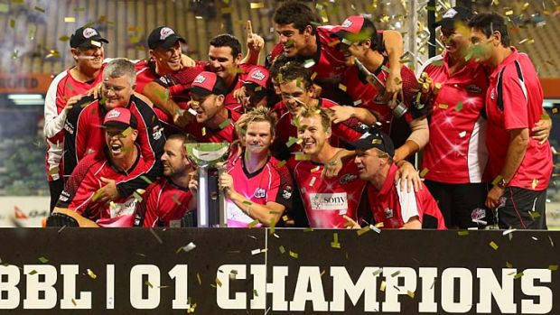 A larger piece of the pie ... Channel Nine aims to regain the domestic rights to the Twenty20 Big Bash League.