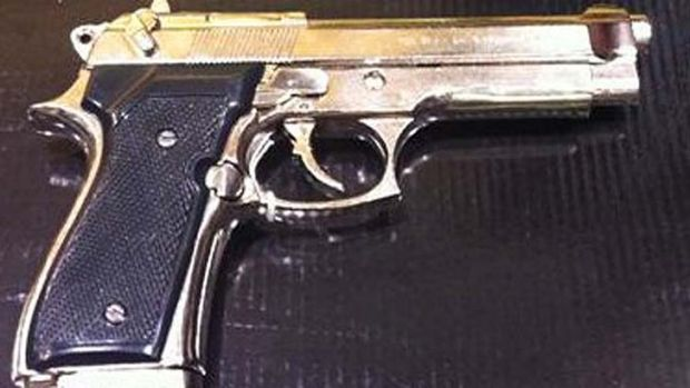 The stolen replica firearm is similar to the one pictured.