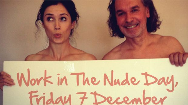 Daring to bare ... Flying Solo editor Jodie McLeod and founder Robert Gerrish.