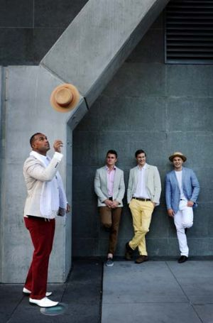 "Men are encouraged to ""get preppy"" for the day."
