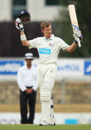 NSW opener Scott Henry finished unbeaten with a majestic 207.