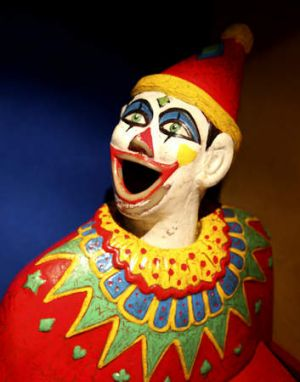 A laughing clown from <i>Carnival of Science</i>.