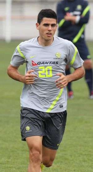 Canberra product Tom Rogictrains with the Socceroos.