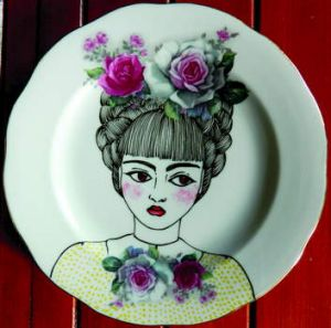 Juliette Dudley's painted plate.