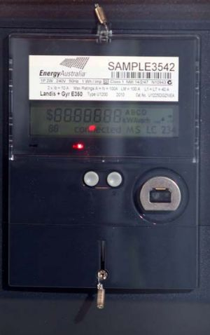 Making the switch ... smart meters track energy use in 30-minute intervals.