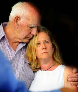 Detective Inspector Bryson Anderson's father, Rex, supports Bryson's wife, Donna.