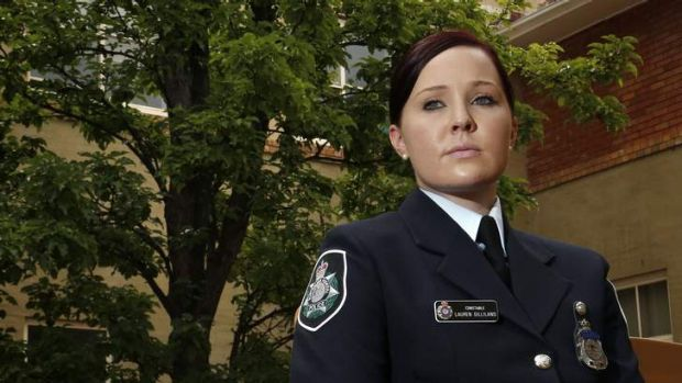 Constable Lauren Gilliland following the ACT Policing Graduation at Australian Federal Police College in Barton.