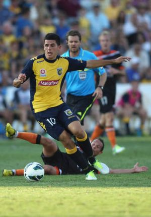 On the rise: Central Coast's Tomas Rogic is among those keen for national experience.