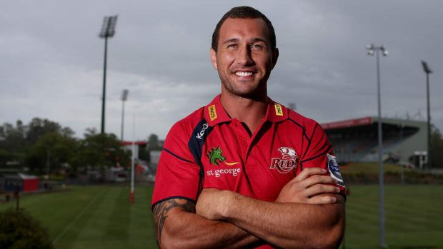 Quade Cooper after announcing he is staying with the Queensland Reds and rugby union, but will start his boxing career a ...