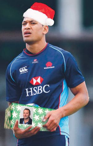 Israel, we're not sure if Ricky is going to appreciate a NSW Waratahs jumper under his Christmas tree.