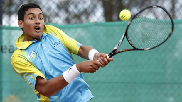 Canberra's Nick Kyrgios has made the Australian under-18 championship semi-finals.