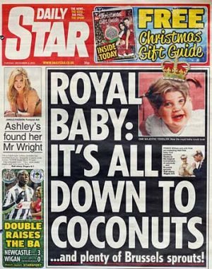 Baby news ... <em>The Daily Star</em>, December 4.