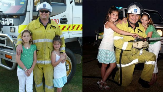 Car crash victim Mark Noormets, pictured with his daughters.
