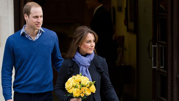 The Duke and Duchess of Cambridge leave the King Edward VII hospital earlier this month.