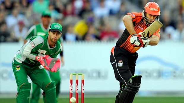 In the trenches ... Perth Scorchers captain Simon Katich, described as a ''terrific leader'' by teammate Justin  Langer, ...