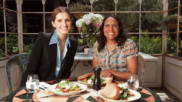 Kate Waterhouse with Cathy Freeman.