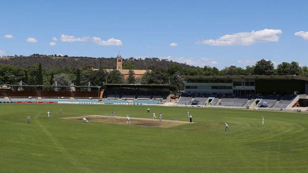 Patrons were denied two sessions of the Chairman's XI versus Sri Lanka match at Manuka Oval.