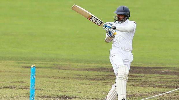 Kumar Sangakkara in full flow against the Chairman's XI.