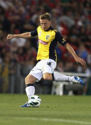 Mariners striker Daniel McBreen scored twice against Newcastle on Saturday, to take his season tally to nine.