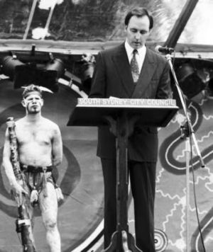 Paul Keating delivers an emotional speech in Redfern, 1992.