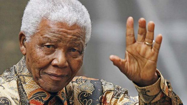 Admitted to hospital for tests ... former South African president Nelson Mandela.