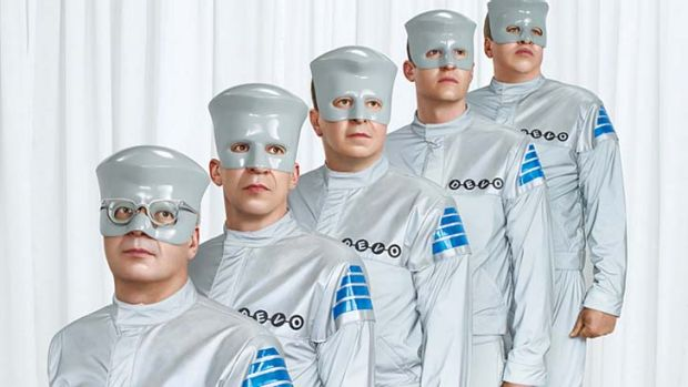 Electro punks ... Devo leapt, danced, fell, jerked and ripped on stage.