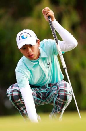 Fourteen-year-old Chinese golfer Guan Tianlang.