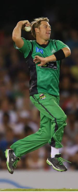 Shane Warne had a rough time in the Big Bash opener, posting bowling figures of 0-41 from 2.2 overs.