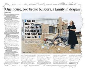 How <i>The Canberra Times</i> reported the story back in August.