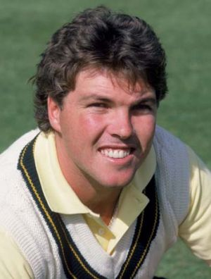Greg Ritchie during the 1985 Ashes tour.