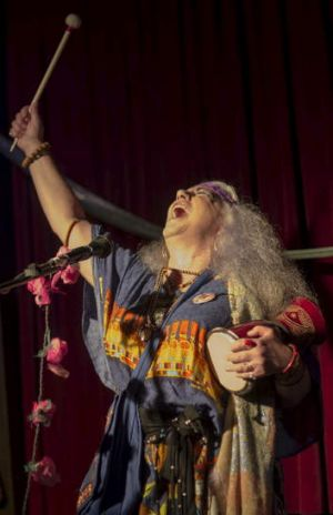 Changes: Wendy Saddington sings at a Hare Krishna temple, a gig far removed from her '60s heyday.