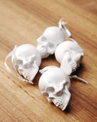 White skull ornaments.