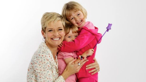"Jessica Rowe, pictured with her girls, remembers ""hot, endless days at the beach, mangoes, fruit cake, banana Paddle Pops..."""